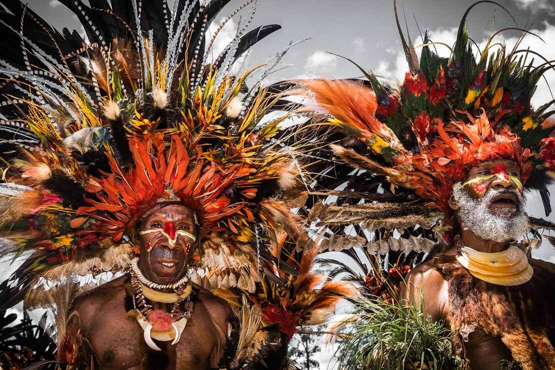 Papua New Guinea Chimbu tribe