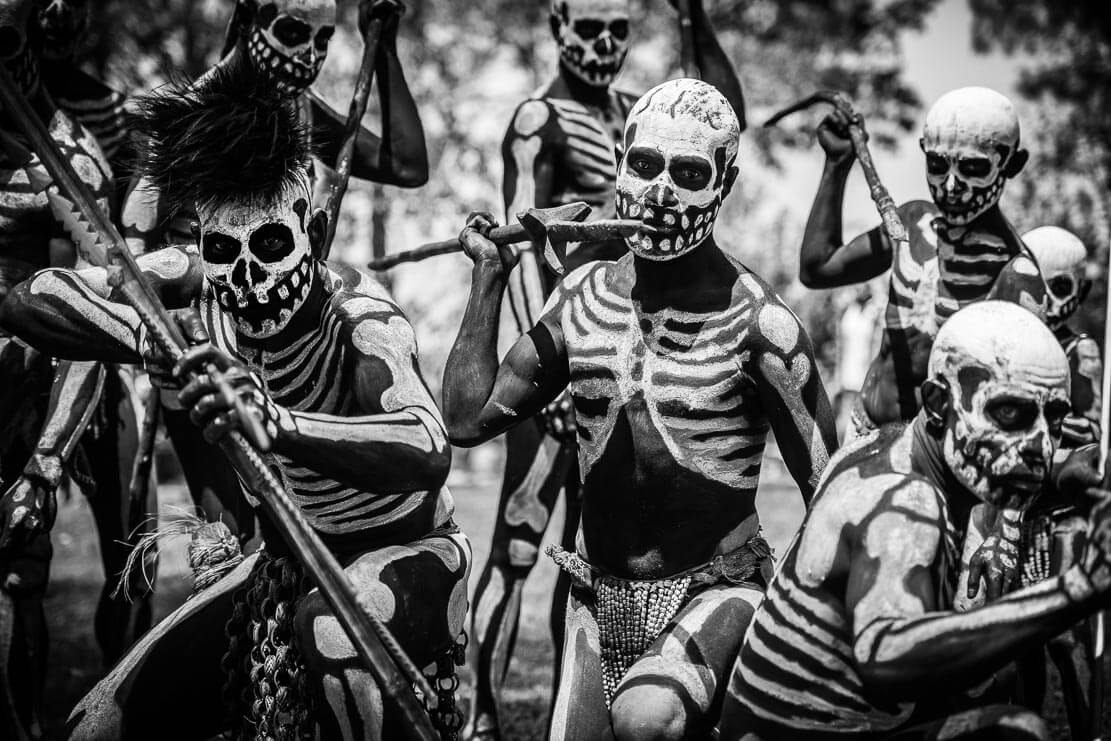 Papua New Guinea Skeleton dancers