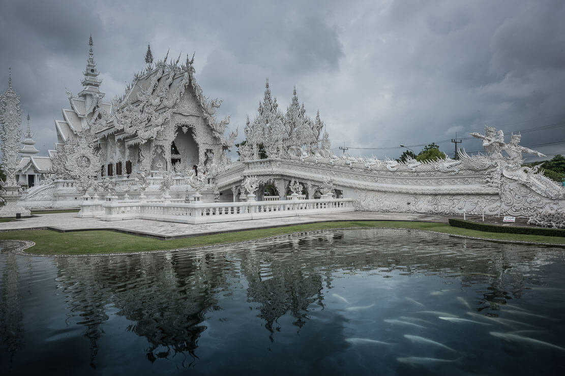 Wat Rong Khun (White Temple) in Chiang Rai in Thailand