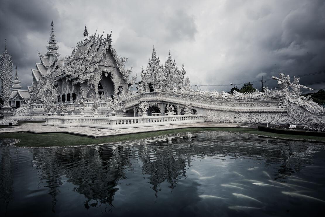 Wat Rong Khun (White Temple) in Chiang Rai