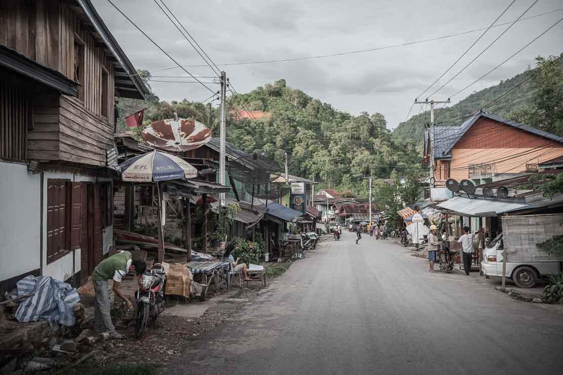 Pakbeng town in Laos
