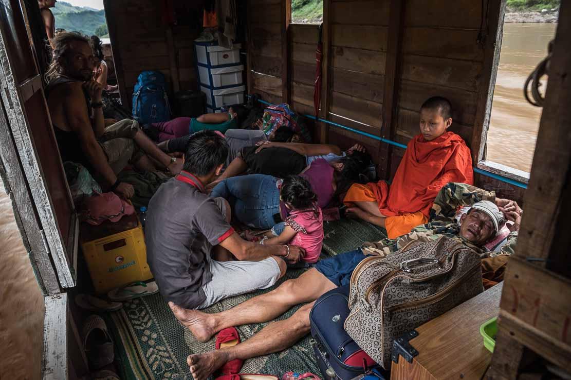 Mekong crossing on slowboat