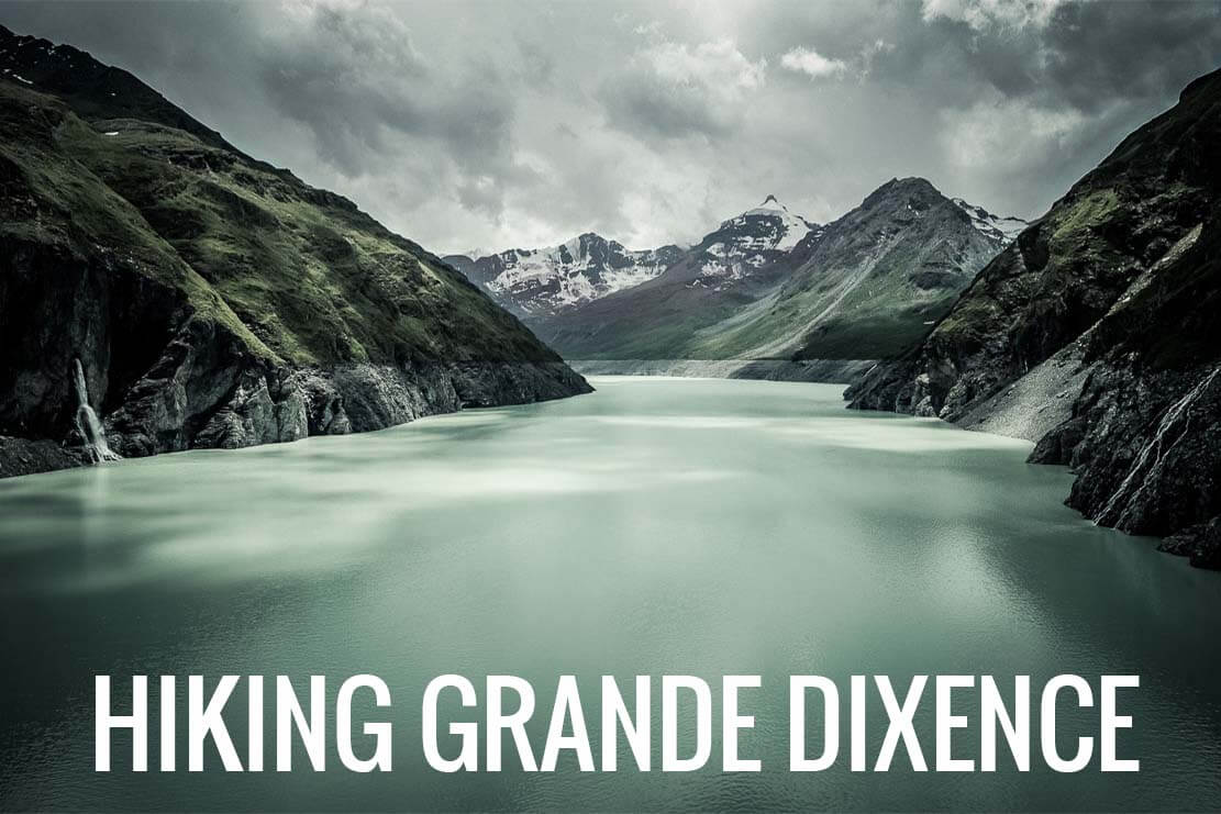 Hiking Grande Dixence Dam to the Dix Hut in Switzerland