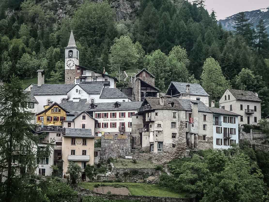 Village of Fusio in Val Lavizzara in Ticino, Switzerland