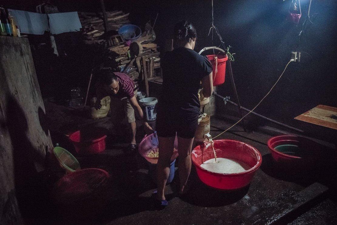 Tofu making in Vietnam