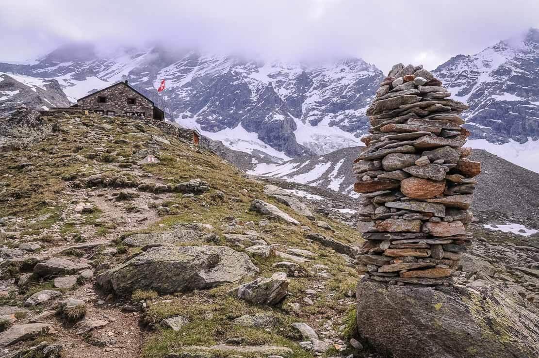 Cabane d'Arpitettaz en Valais, Suisse