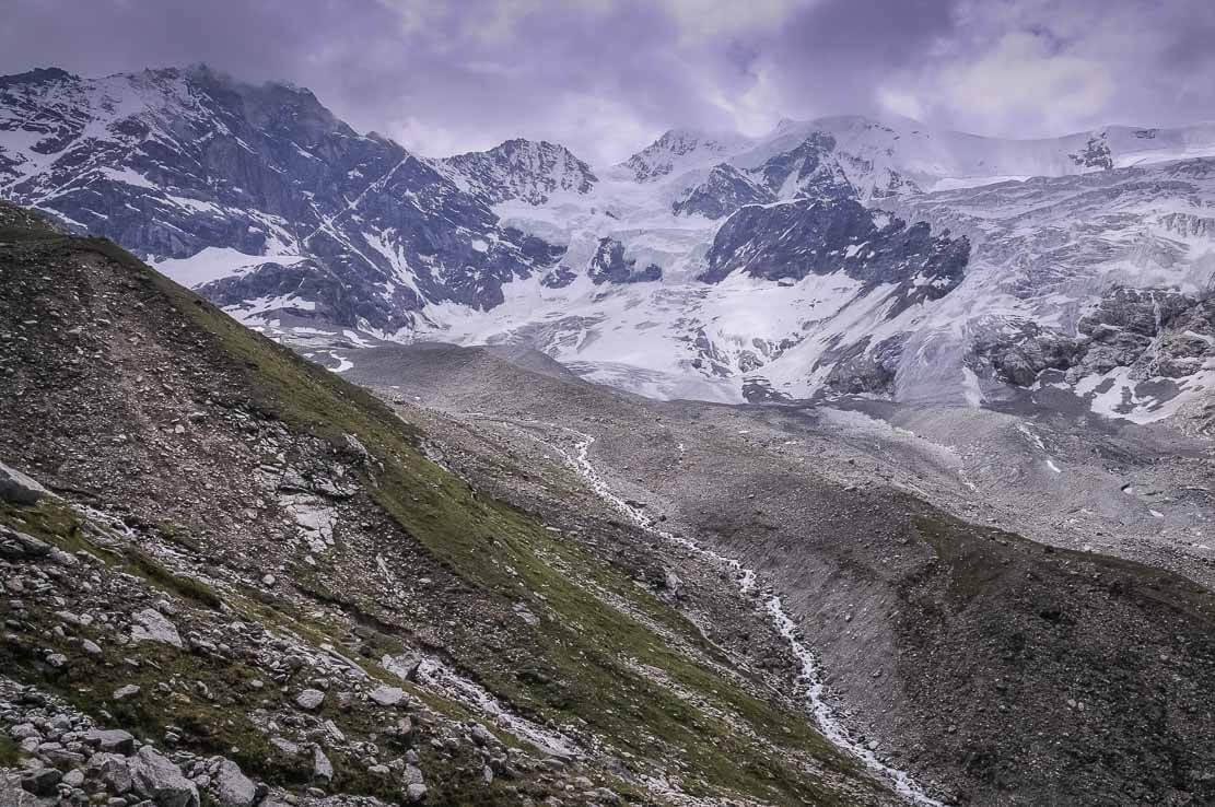 Randonnée en Suisse à la cabane d'Arpitettaz