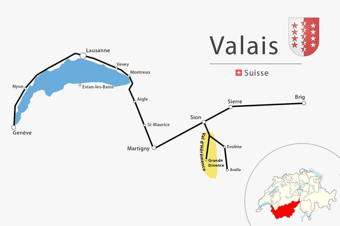Vaud-Valais carte simplifiée