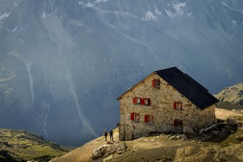 Hike in Switzerland to the Aiguilles Rouges Hut