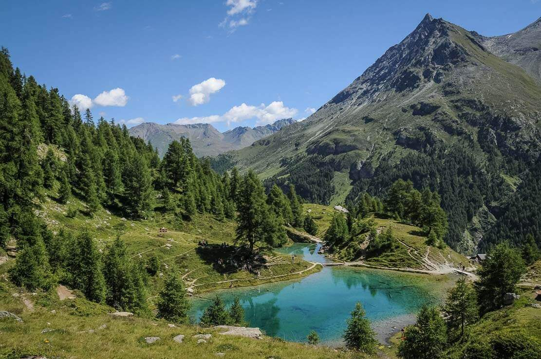 Lac Bleu, hike in Switzerland to the Aiguilles Rouges Hut
