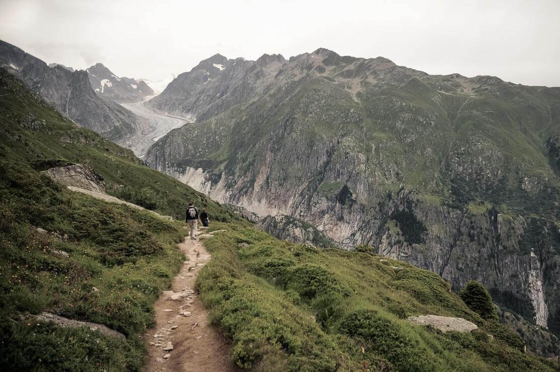 Fiesch Glacier, hike in Switzerland
