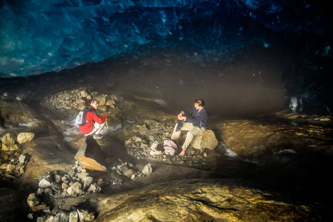 Ice cave, hike in Switzerland to the Aletsch Glacier