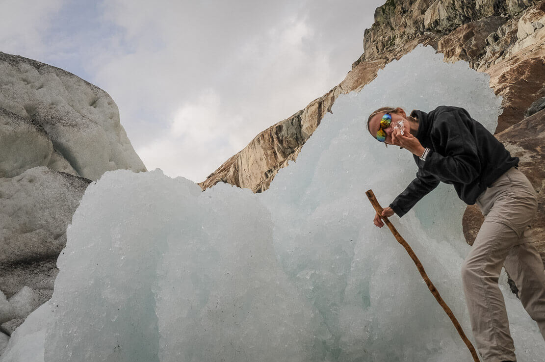 Randonnée en Suisse au glacier d'Aletsch