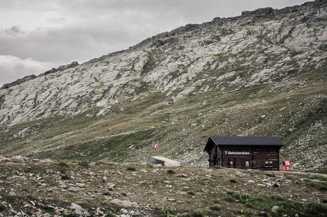 Gletscherstube hut, hike in Switzerland to the Aletsch Glacier