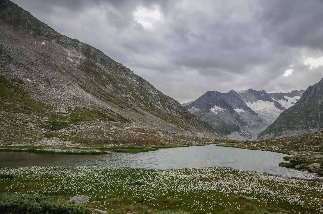 Lake Märjelen, hike in Switzerland to the Aletsch Glacier, canton of Wallis