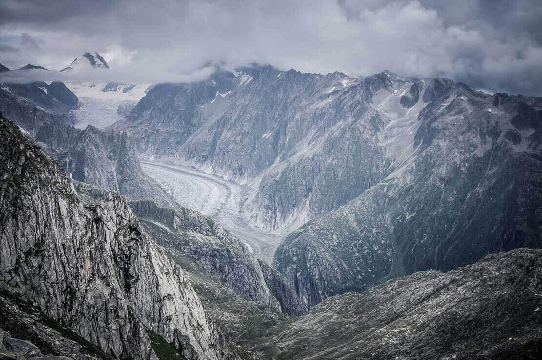 Randonnée en Suisse au glacier de Fiesch et d'Aletsch
