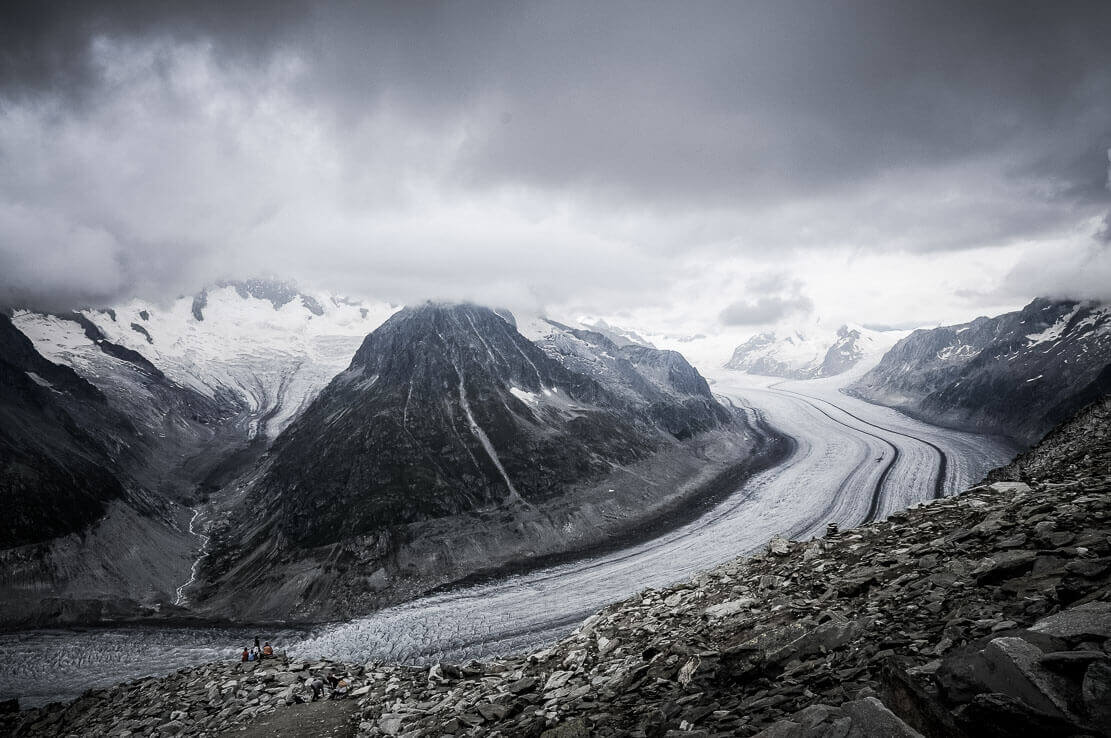 Aletsch Glacier, hike in Switzerland