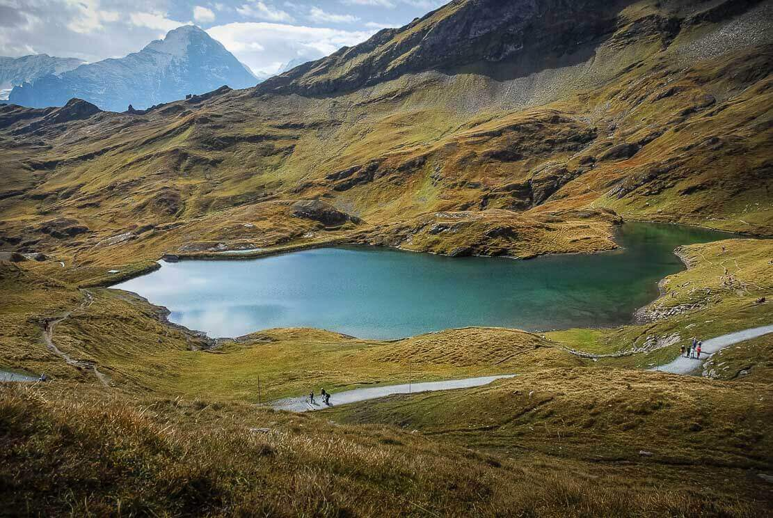 Lake Bachalp, or Bachalpsee, hike in Switzerland in Grindelwald