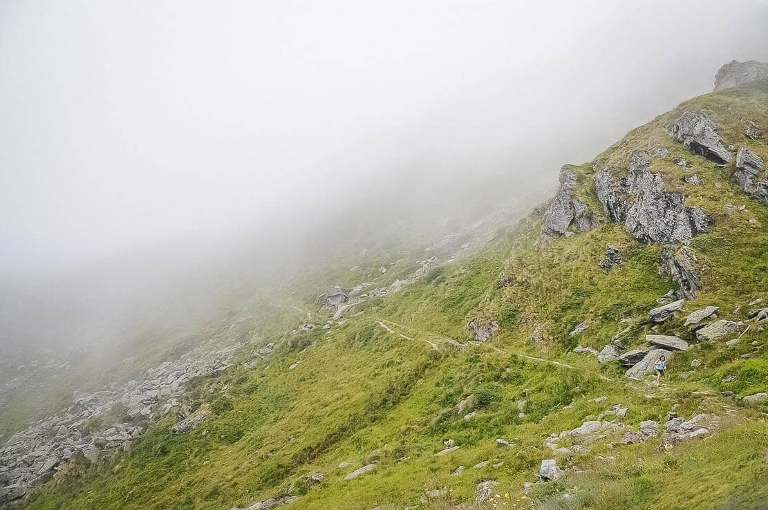 Randonnée en Valais, Suisse à la cabane du Mont-Fort, Val de Bagnes