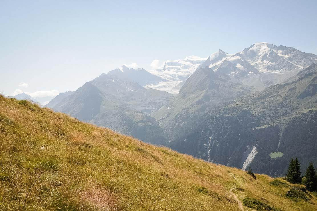 Hike in Switzerland to the Mont-Fort Hut