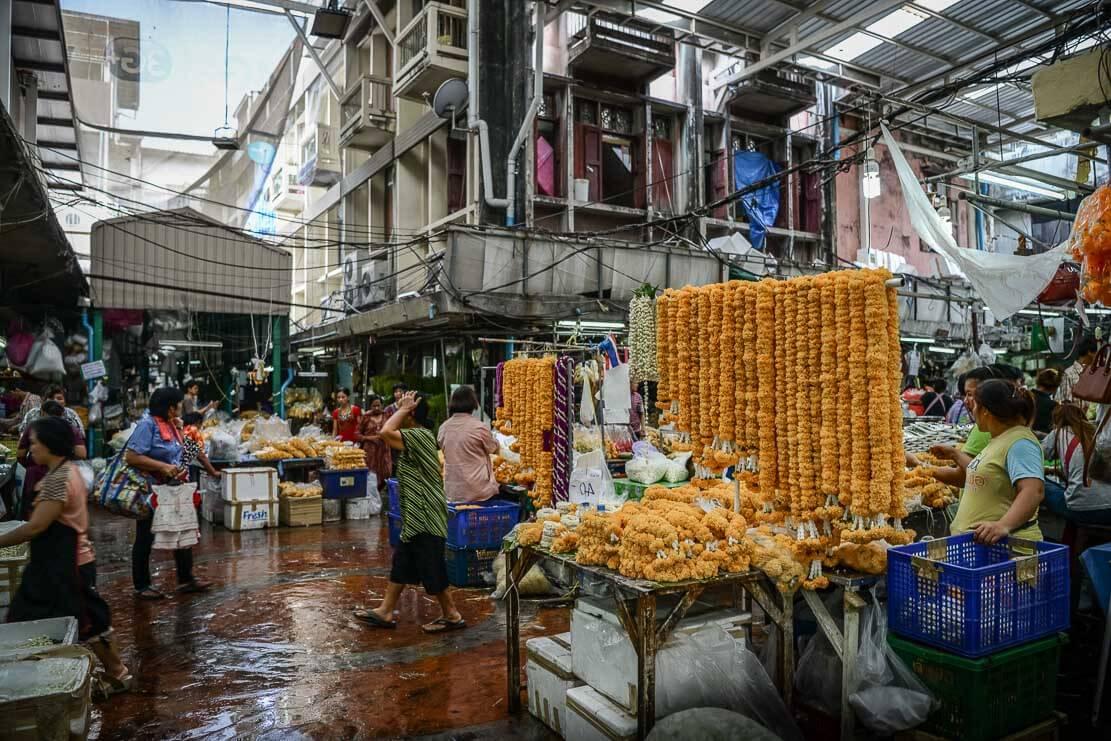 Pak Khlong Talat (Flower Market) in Bangkok