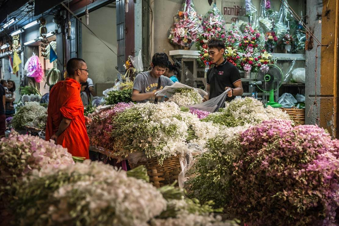 Pak Khlong Talat (Flower Market) in Bangkok