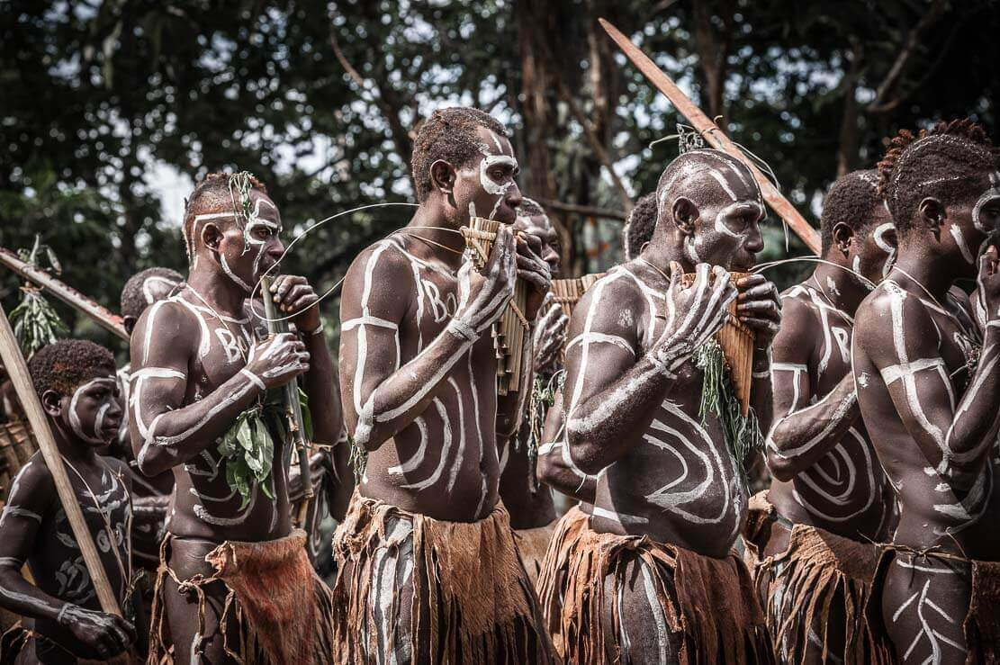 Bougainville traditional music at the Bougainville Reeds Festival in Papua New Guinea