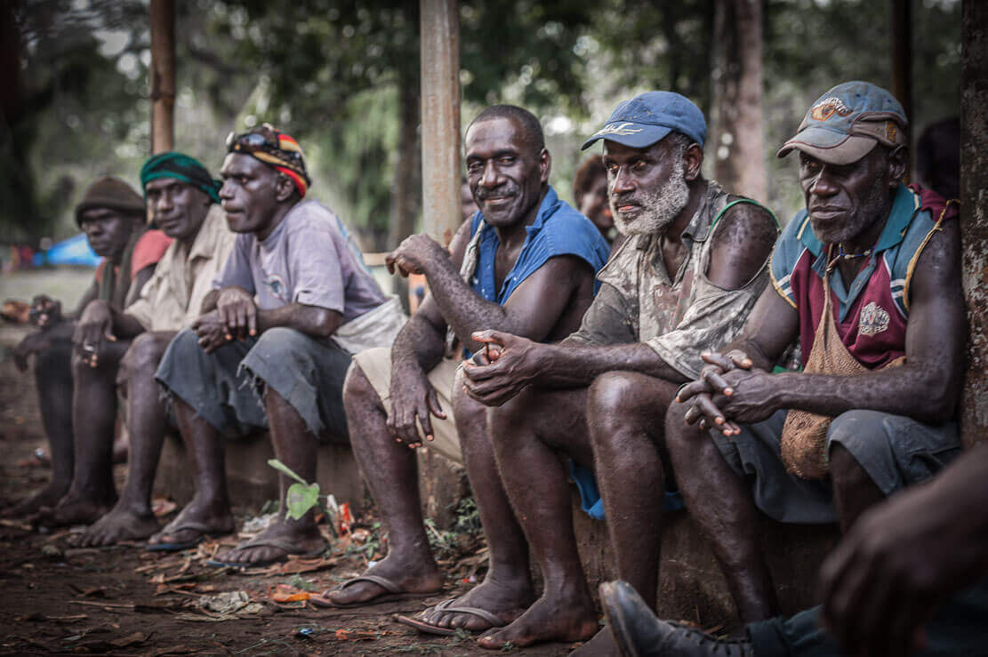 Locals at the Bougainville Reeds Festival in Papua New Guinea