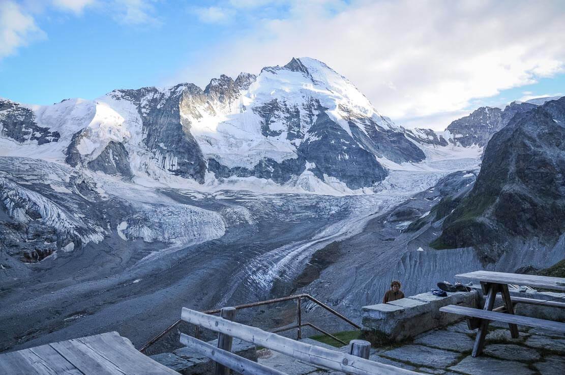 View from Schönbiel Hut (Schönbielhütte) in Zermatt