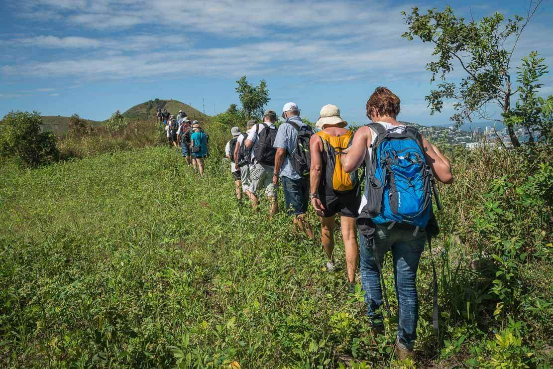 Bushwalking from PNG University to Burns Peak and Yacht Club