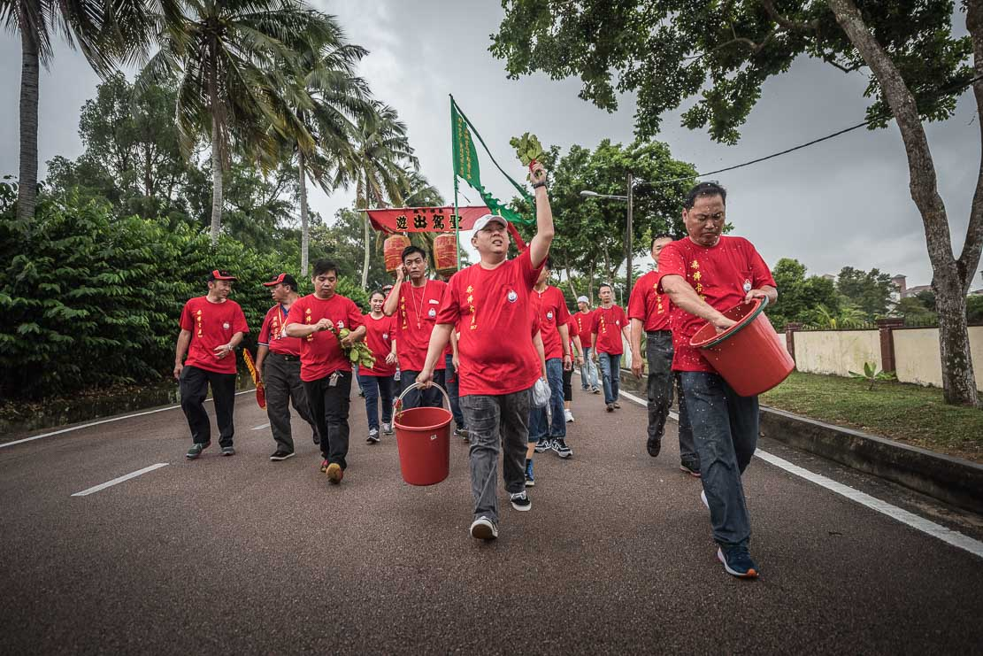 Street cleansing ceremony of Chingay Ritual Johor Bahru, Malaysia