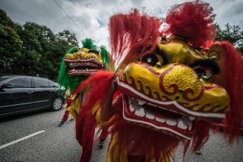 Chingay Prelude Parade in Johor Bahru Malaysia