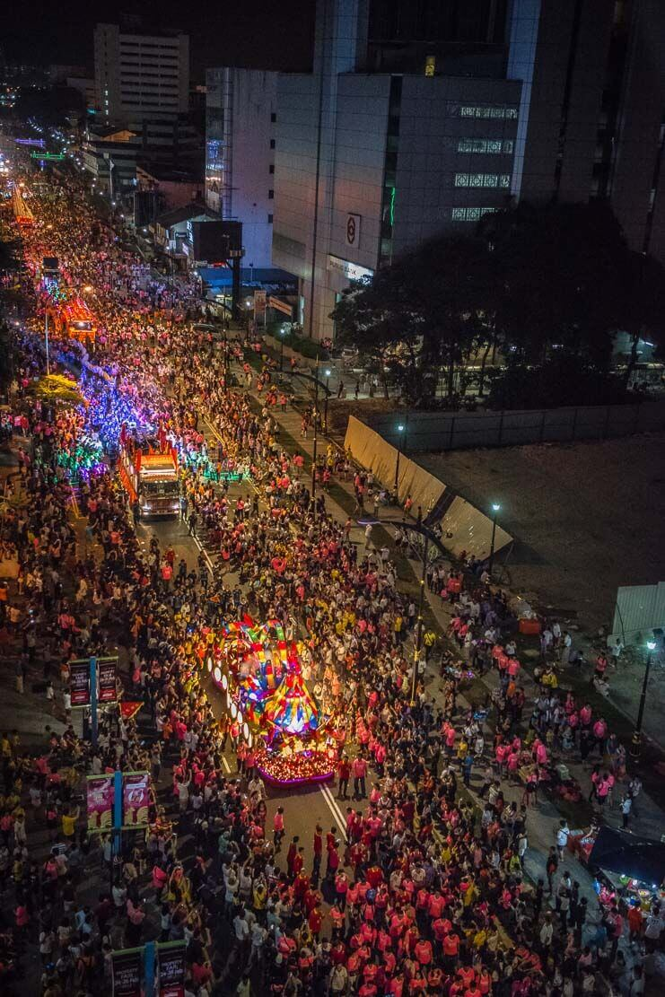 Chingay Parade in Johor Bahru, Malaysia
