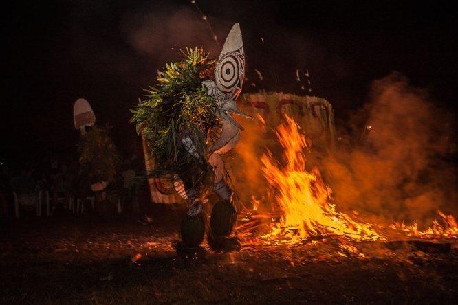 Papua New Guinea Baining Fire Dances in East New Britain