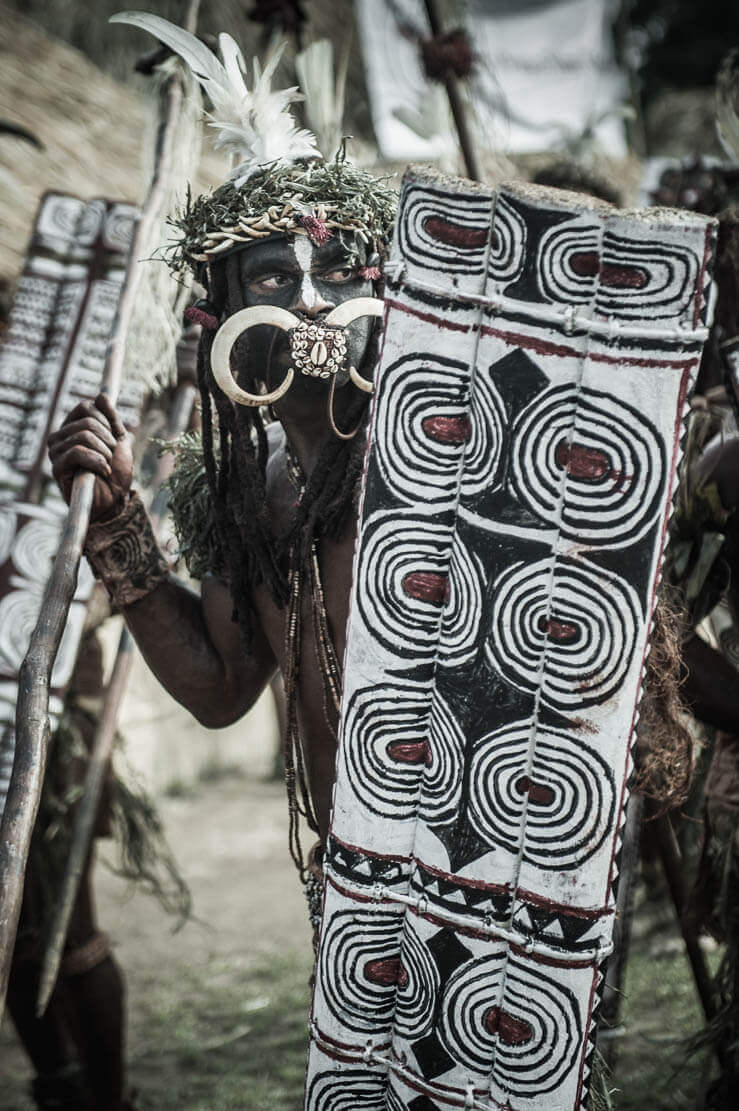 Kusare warriors from West New Britain Province
