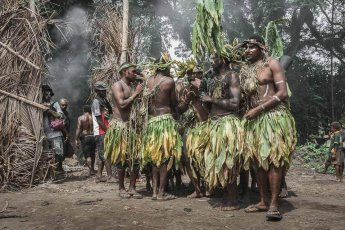 Tribesmen at the National Mask Festival
