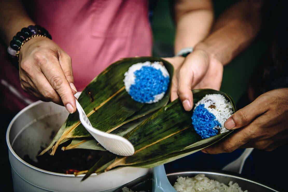 Nyonya Chang traditional blue dumplings