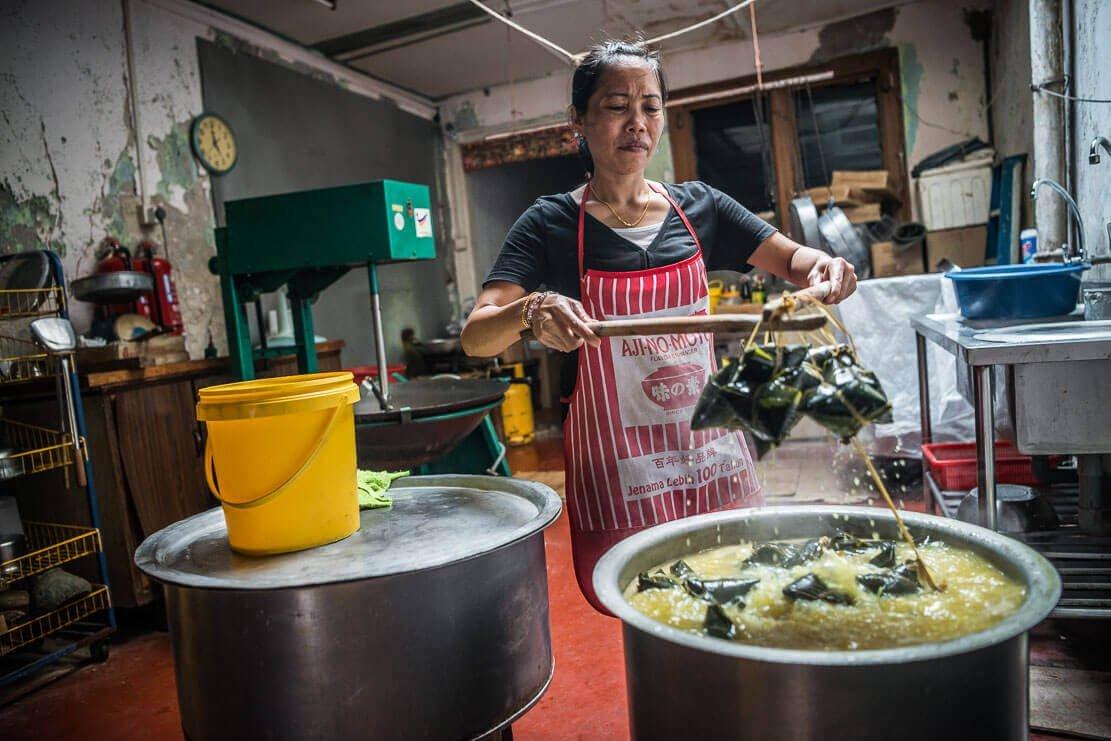 Traditional Nyonya dumplings in Melaka Malaysia