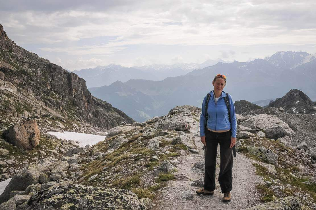 Hiking in Switzerland to the Orny Hut in the canton of Wallis
