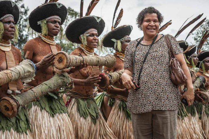 Papua New Guinea festivals: Margaret Potane at Enga Cultural Show