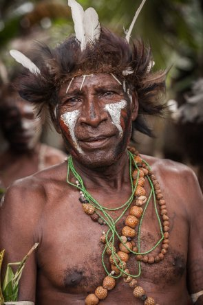 Gulf people at Gulf Mask Festival in Gulf province in Papua New Guinea