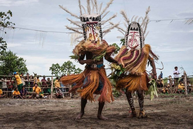Colourful Gulf Mask Festival in Gulf province in Papua New Guinea