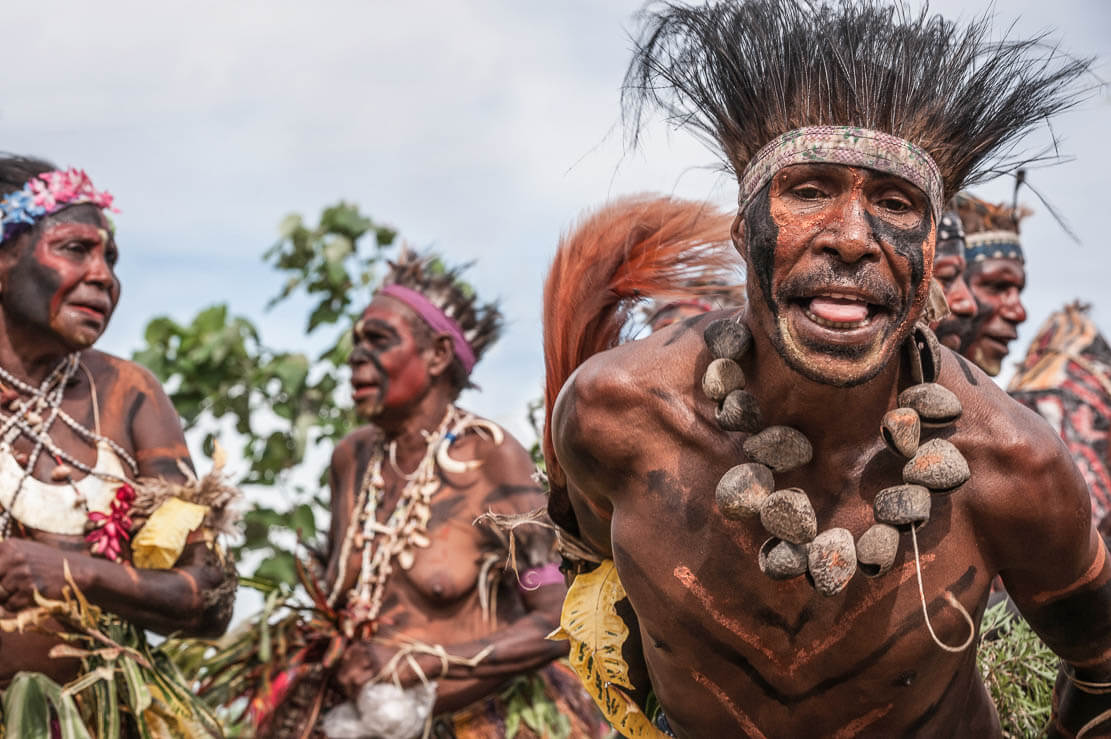 Gulf tribes at Gulf Mask Festival in Gulf province of Papua New Guinea