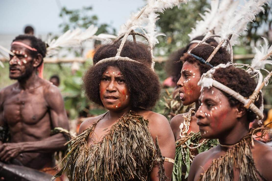 Performers at Gulf Mask Festival in Gulf province in Papua New Guinea