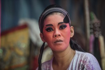 Make-up session as preparation for Chinese Opera in Penang