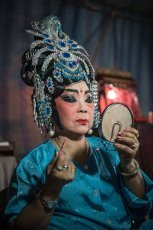 Preparation for Chinese Opera performance in Penang