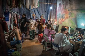 Behind the scenes of Chinese Opera in Penang