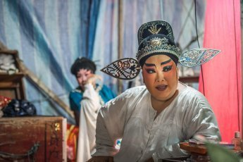 Backstage of Chinese Opera