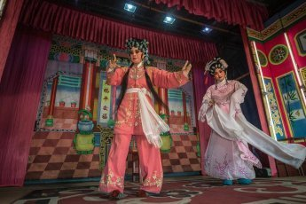 Teochew Sai Bo Hong Chinese Opera troupe from Bangkok performing in Penang