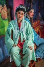 Artists from Chinese Opera troupe from Bangkok performing in Penang